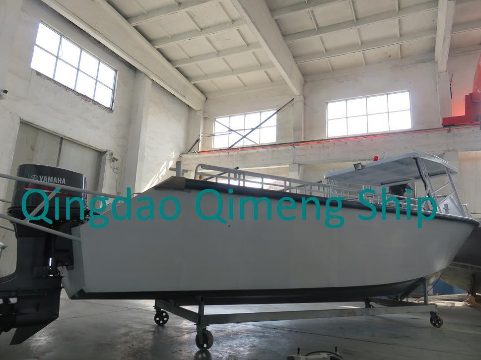 28FT 8.6m Center Cabin Aluminum Cargo Boat with Hardtop