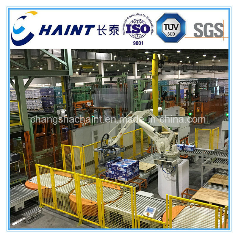 Automatic Robot Palletizer and Conveyor for Unit Load