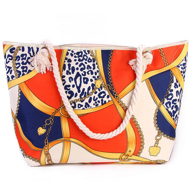 Fashion Handbags New Portable Beach Bag Simple Cotton Rope Shoulder Bag