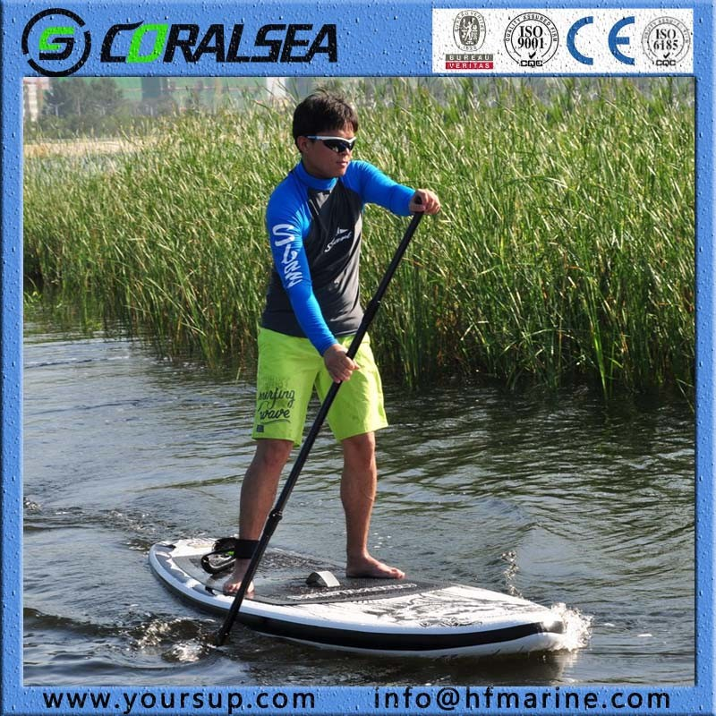"PVC/EVA Material Drop Stitch Stand up Inflatable Surfboard (Magic (BW) 8′5"")"