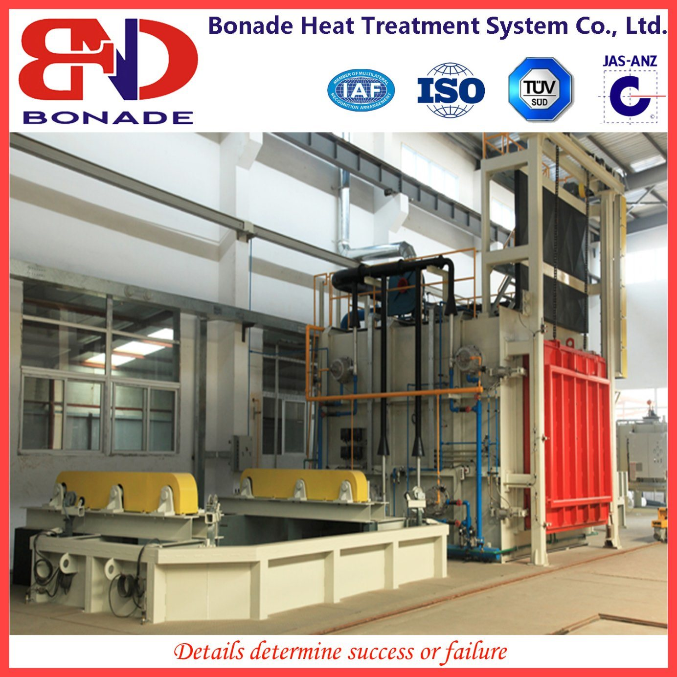 Large Forklift Box Furnace Heat Treatment Production Line