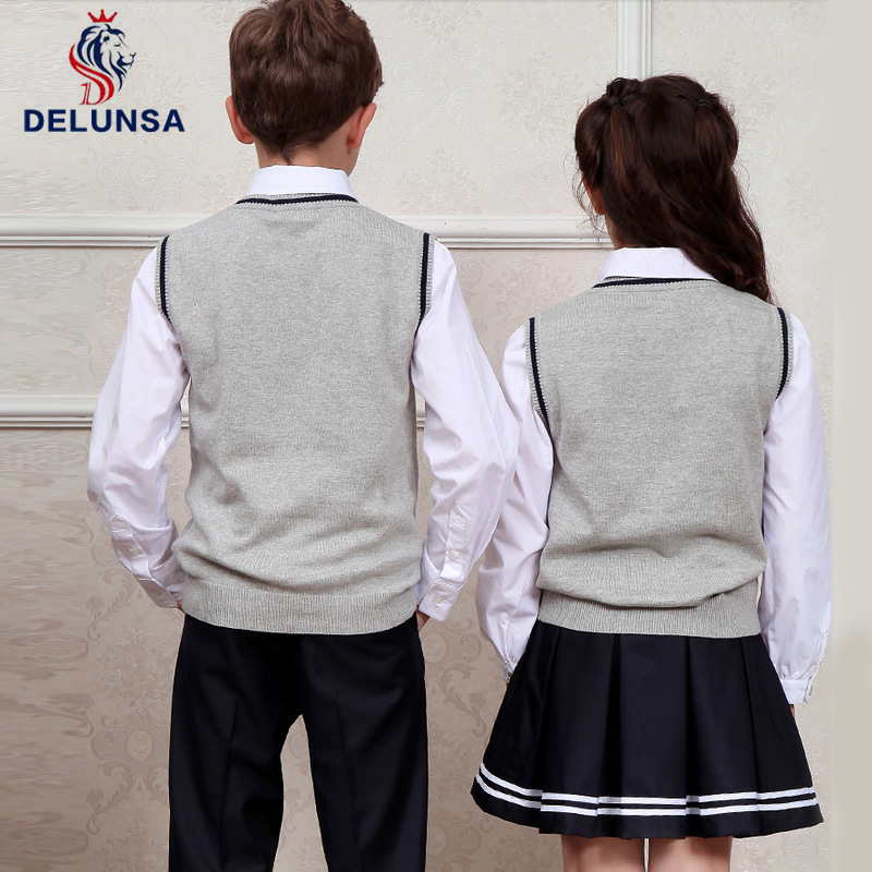 Student Wear Shirt and Vest School Uniform