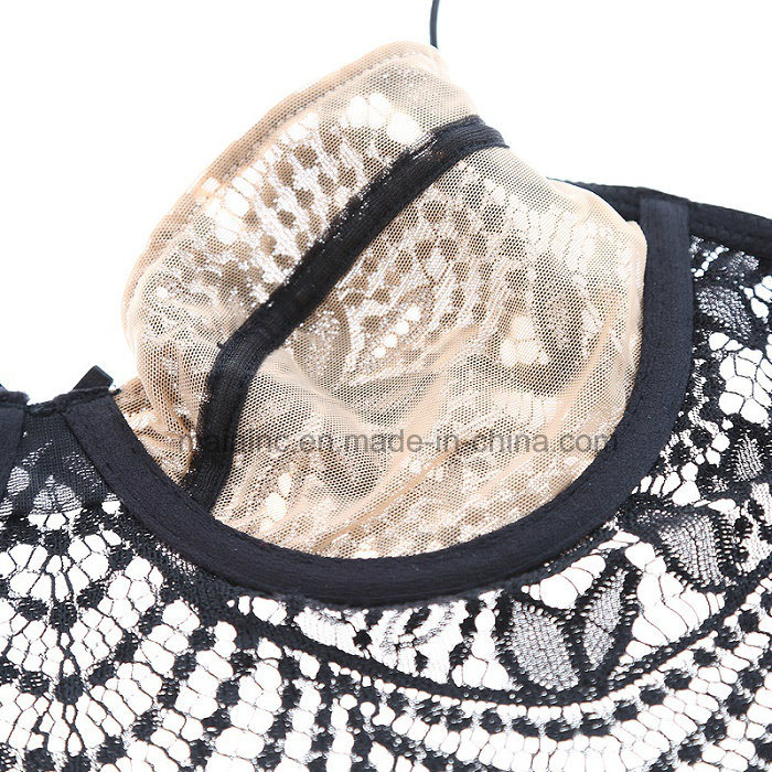 New Design Ladies Transparent Lace Panty and Bra
