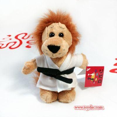 Plush Mini Lion Toy Key Ring