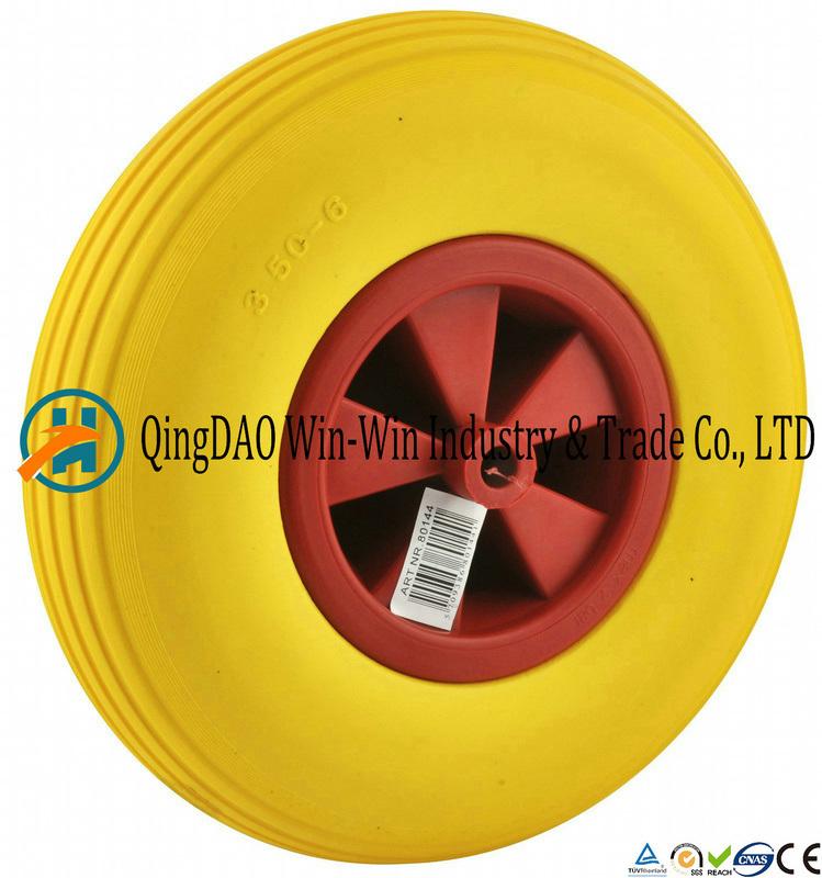 Good Quality PU Trolley Wheel with Plastic Rim