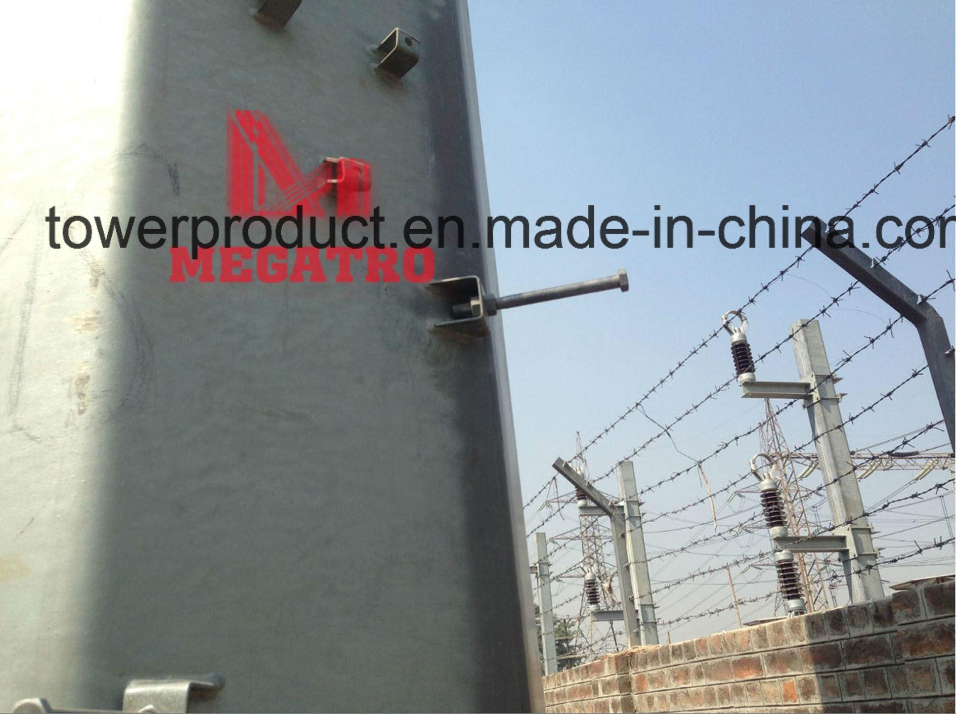 132kv DC Steel Tubular Poles (heave angle)