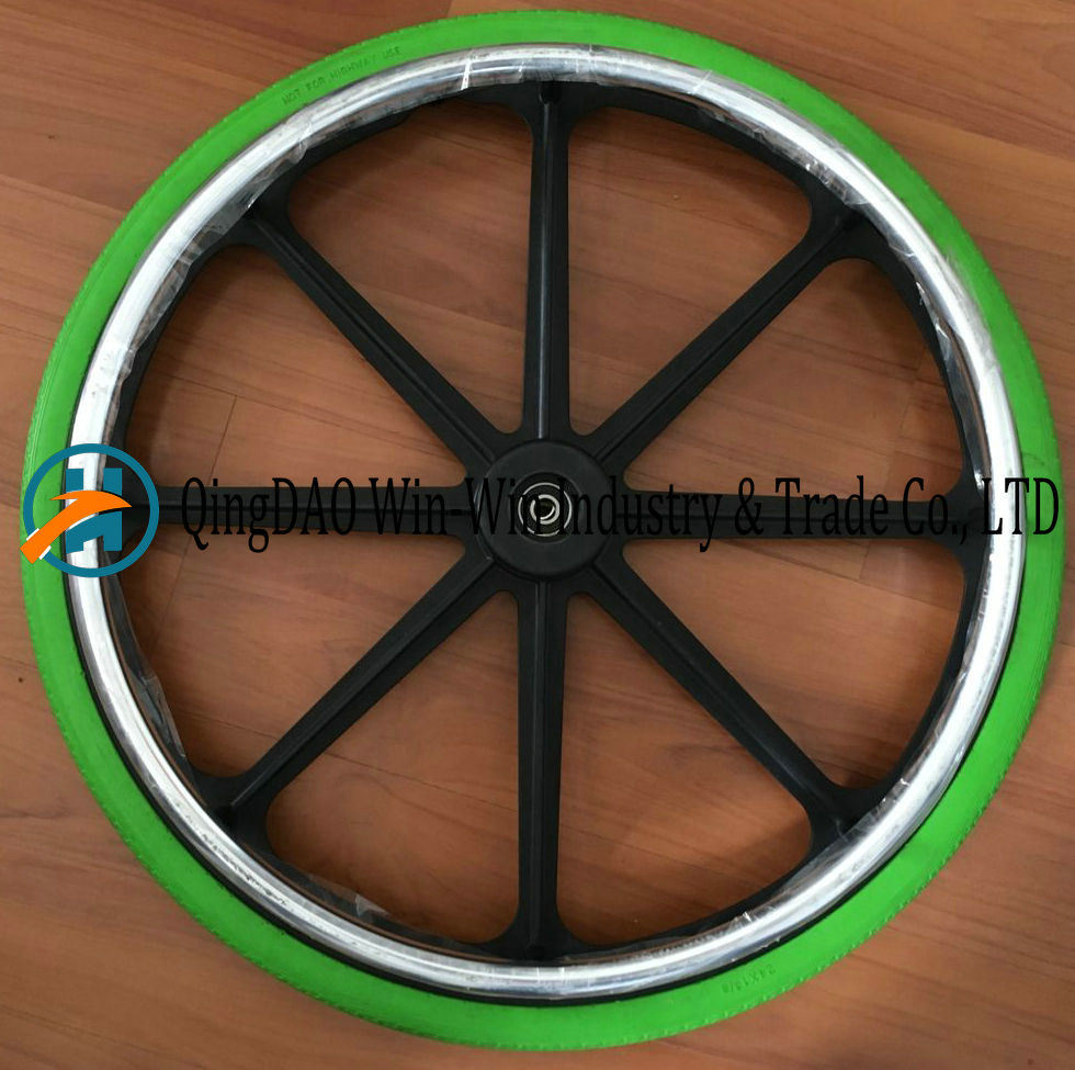 24X1 3/8 Solid Polyurethane Foam Wheelchair Wheel