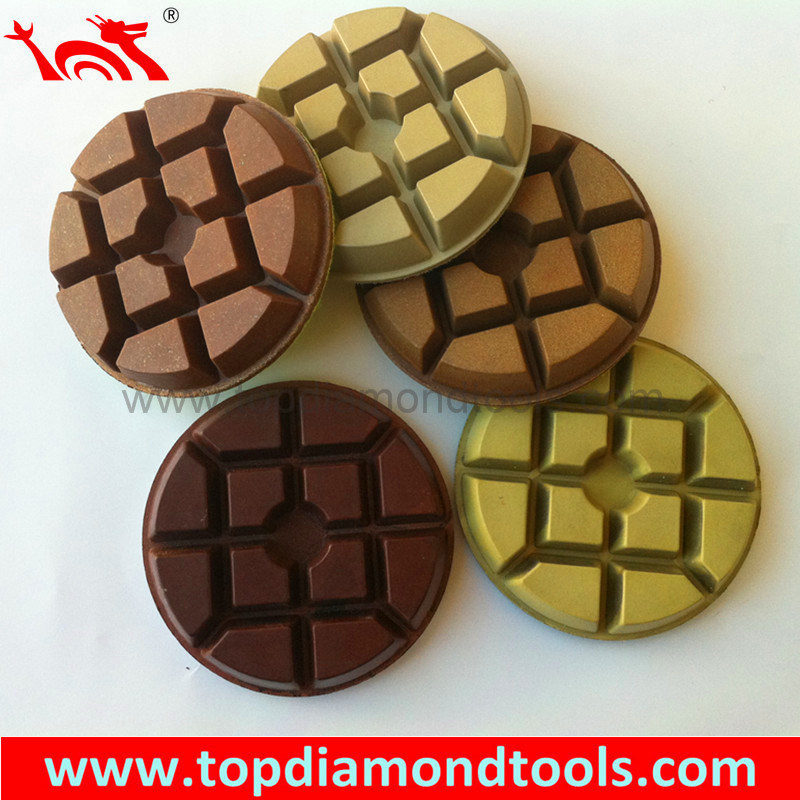 Resin Bond Diamond Rigid Polishing Pads for Wet or Dry Polishing Concrete Floor