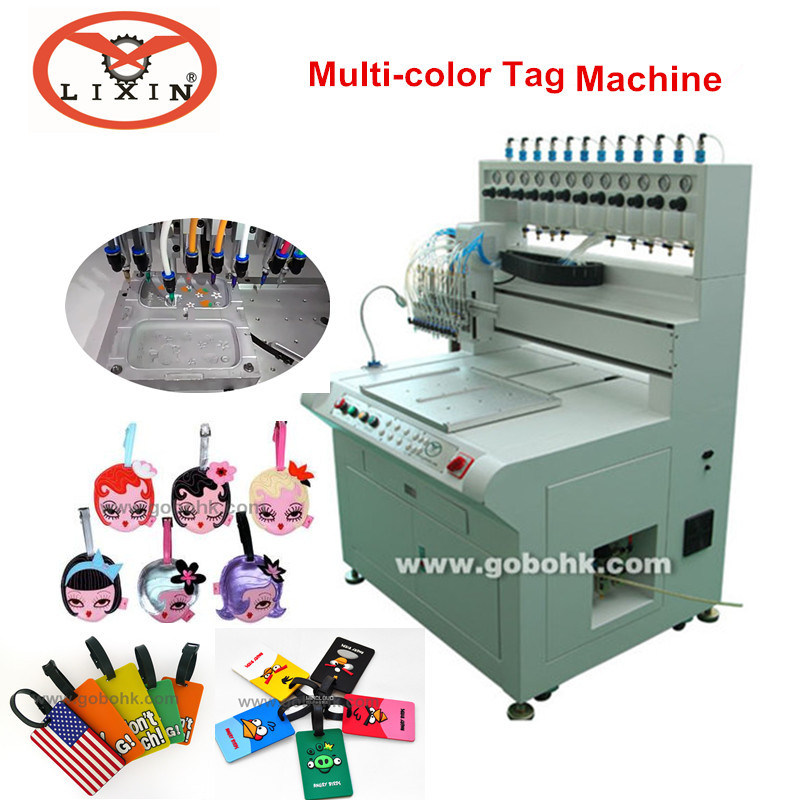 Soft PVC Luggage Tag Automatic Injection Machine