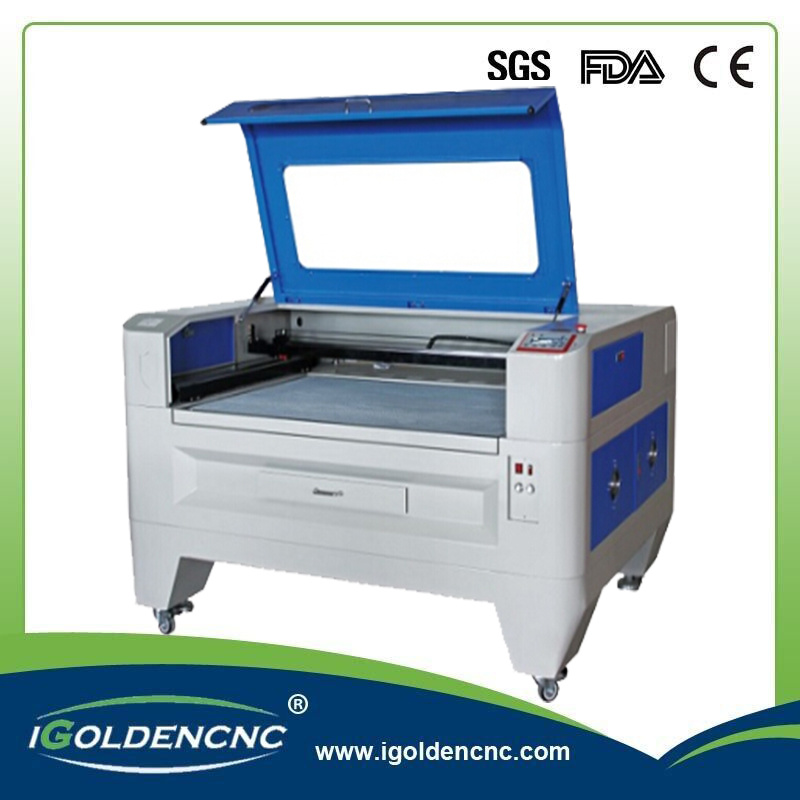 80W 100W Fabric / Acrylic / Plastic / Wood CO2 Fabric Laser Cutting Machine for Hot Sale