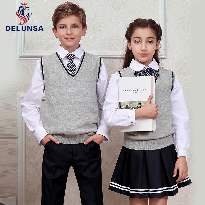 Student Wear Shirt and Vest School Uniform