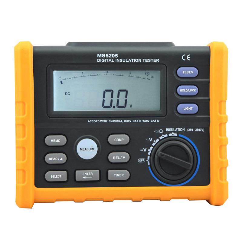 Ms5205 2500V Digital and Analog Display Megger Insulation Resistance Tester