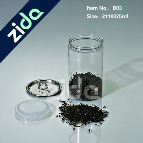 Pet Clear Plastic Jars China Wholesaler Jars with PP Screw Cap Lids