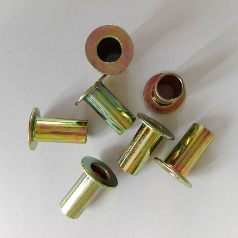 Steel Fully Tubular Rivet 8X18 Zinc Color Plated for Brake Lining Brake Shoe Use