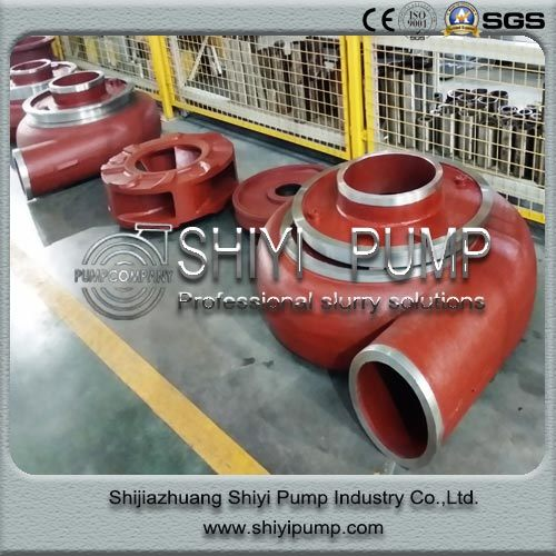 Heavy Duty Horizontal Centrifugal Water Treatment Slurry Pump Parts