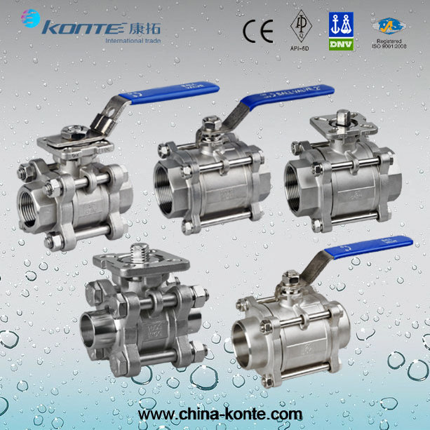 Stainless Steel Threaded 1PC, 2PC, 3PC Ball Valve