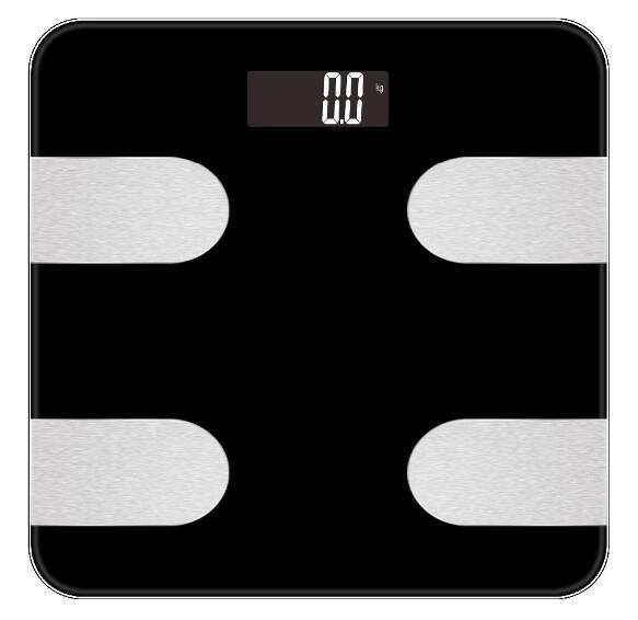 Large LCD Display Body Fat Digital Bathroom Glass Weighing Scale