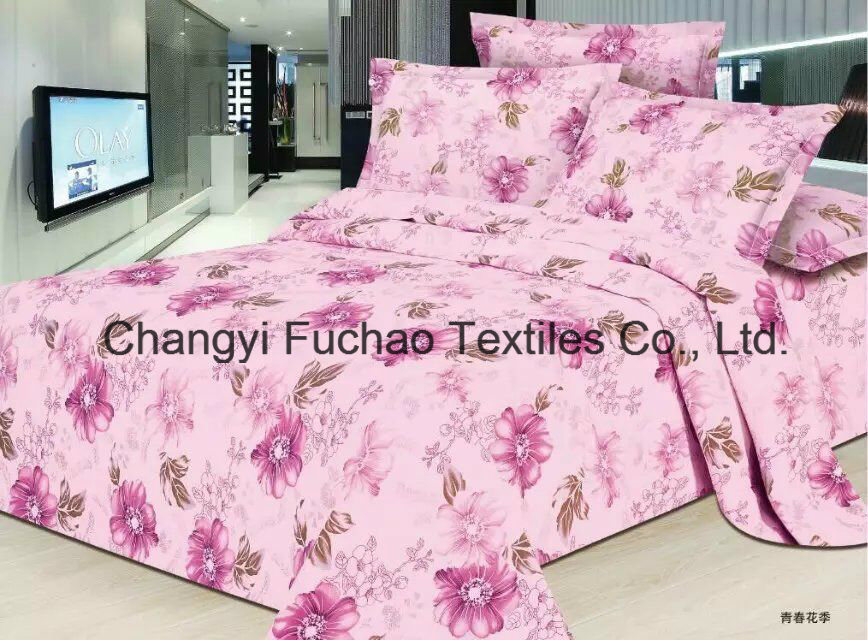Printed Quilted Pigment Printing Microfiber Quilt /Bedding Set