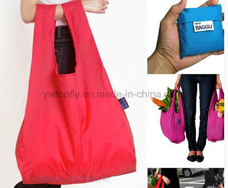 Promotional Gift Foldable Recycled Polyester Groceries Tote Shopping Bag