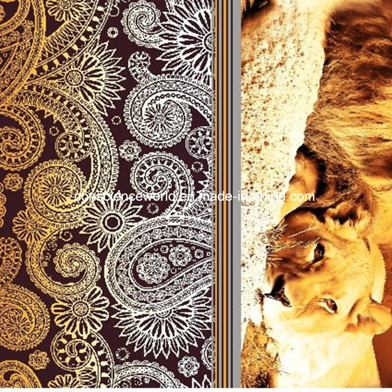 100%Polyester Lions and Leopards Pigment&Disperse Printed Fabric for Bedding Set