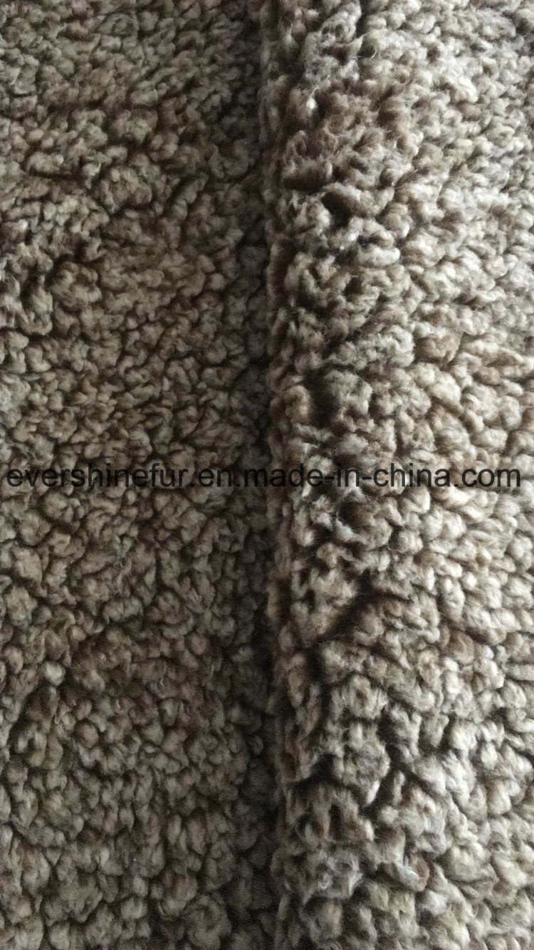 Foil Suede Bonding Sherpa Curly Fur Fake Fur Fabric for Garment