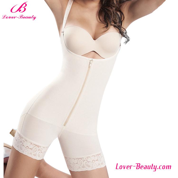 Special Design U-Back Presale Nude Zipper Lace Hem Body Shaper