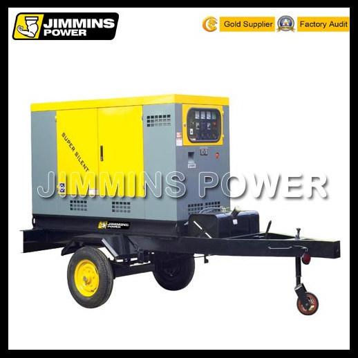 Mobile Power Statioin Wetherproof Trailer Silent Electric Diesel Generator Set (soundproof)