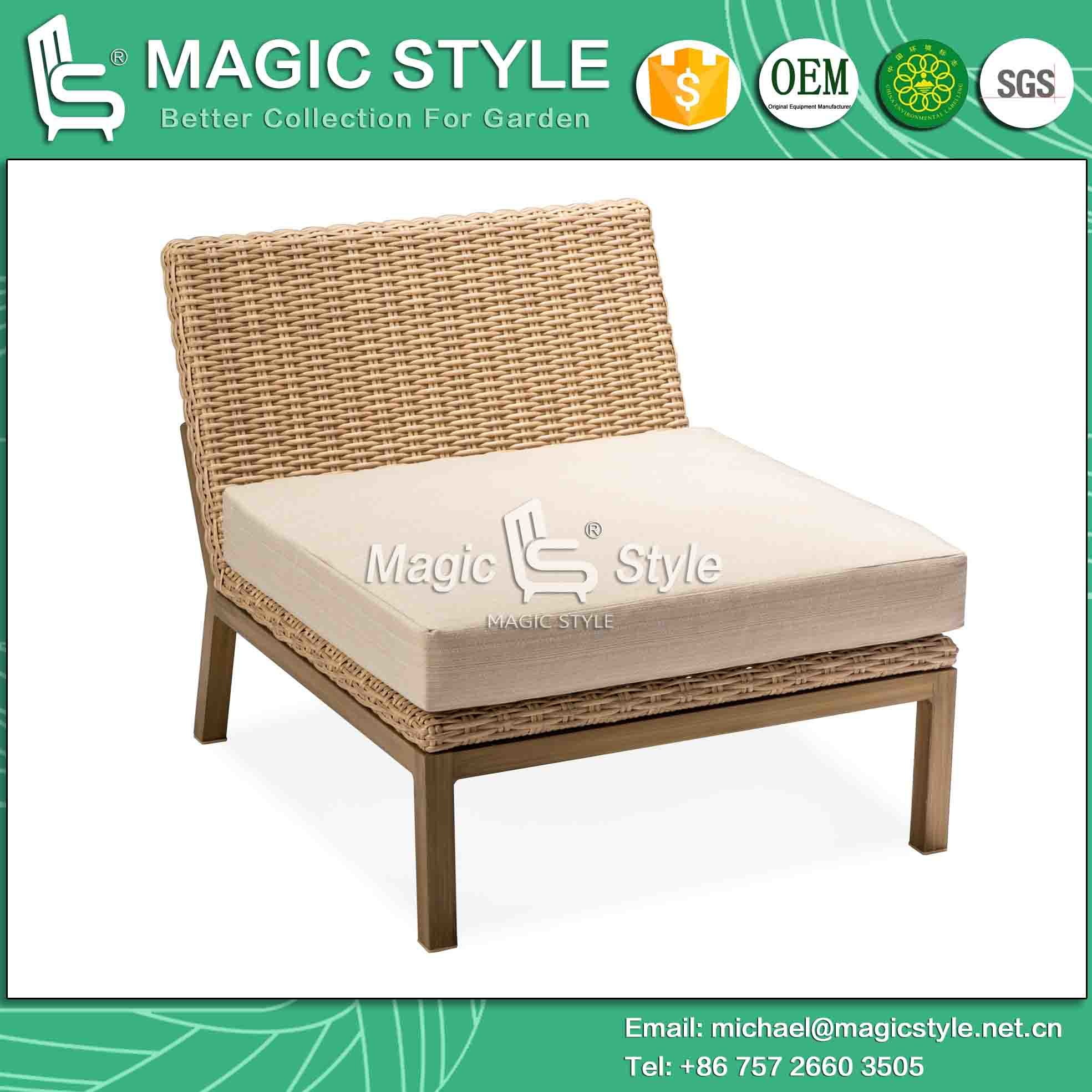 Combination Sofa with Cushion Outdoor Sofa Weaving by Wicker