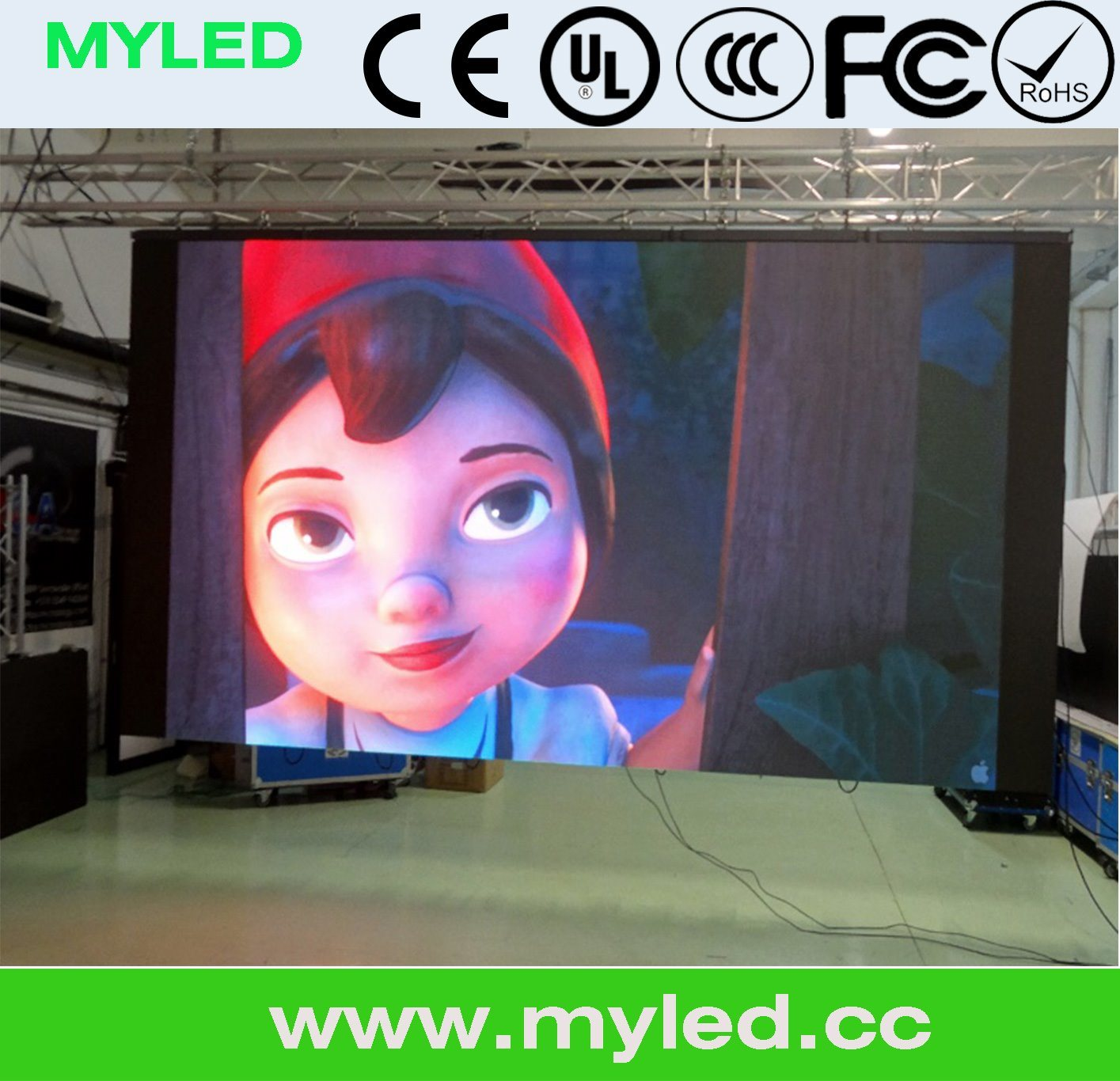 P3.91/P4.81/P5.9 Die Casting Cabinet Indoor Rental LED Display Screen/LED Panel