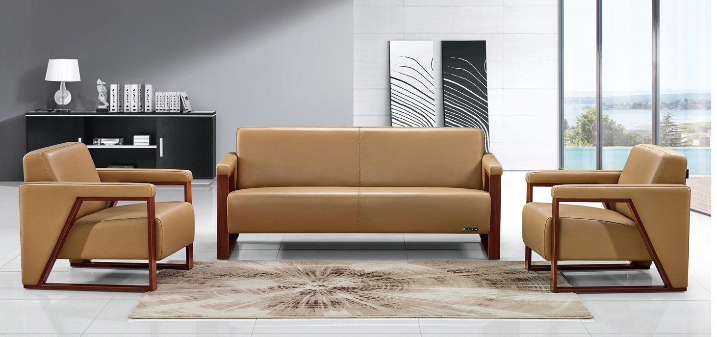 China Executive Synthetic Leather Office Sofa (HX-CF021)