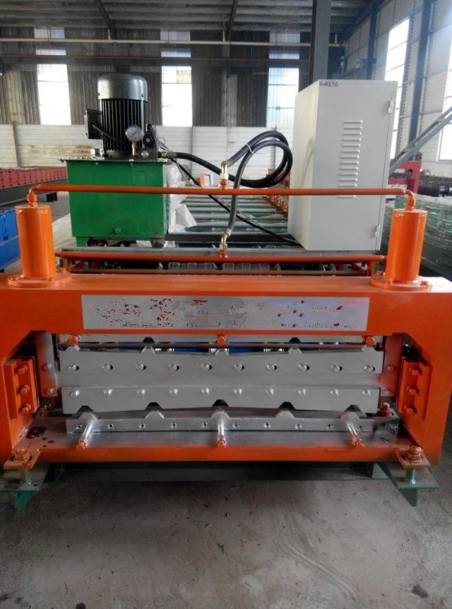 Automatic Double-Deck Roof Tile Roll Forming Machine 840mm Roof Tile