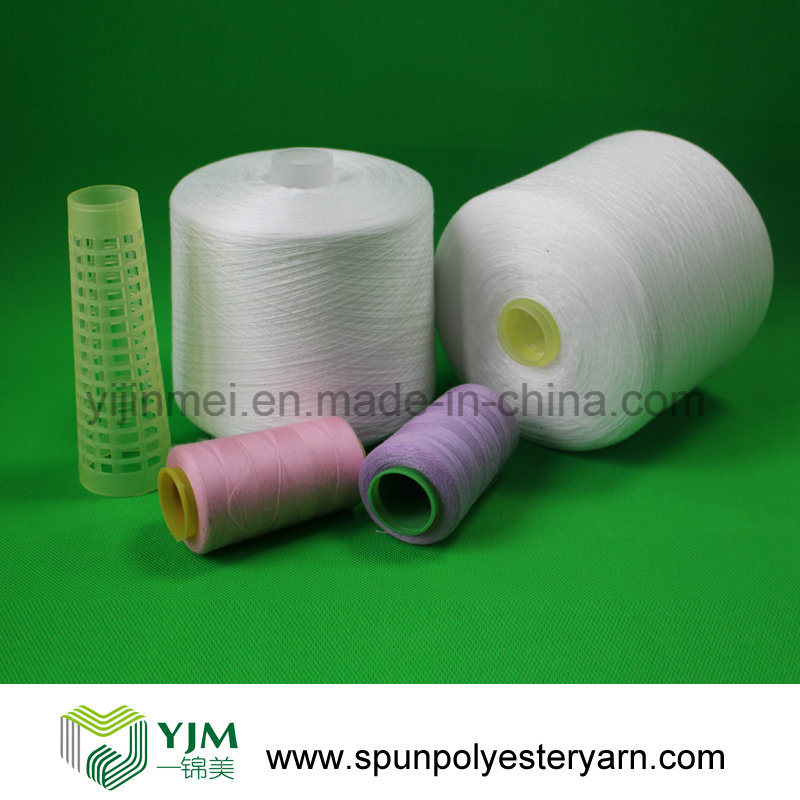 Raw White Ring Spun Polyester Sewing Thread 60s/3