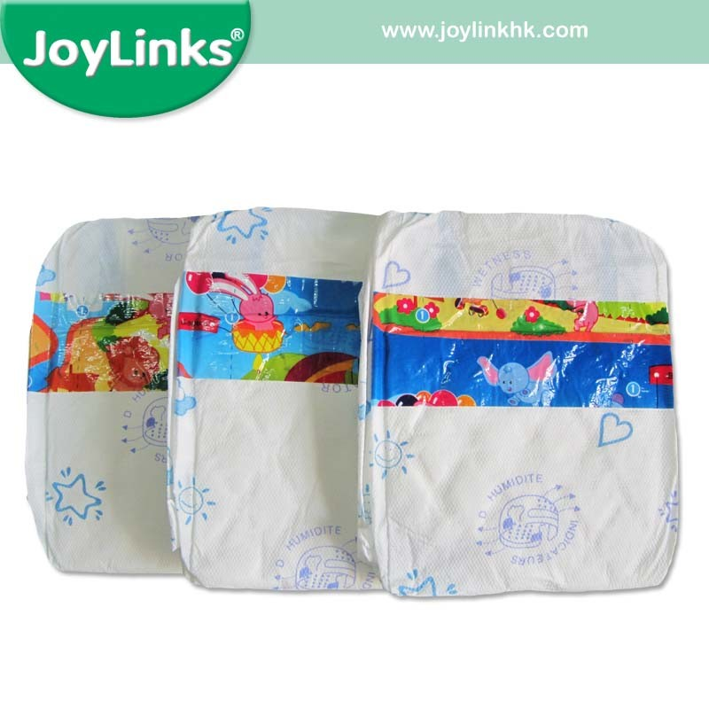Baby Nappies with PE Film Backsheet and PP Tape