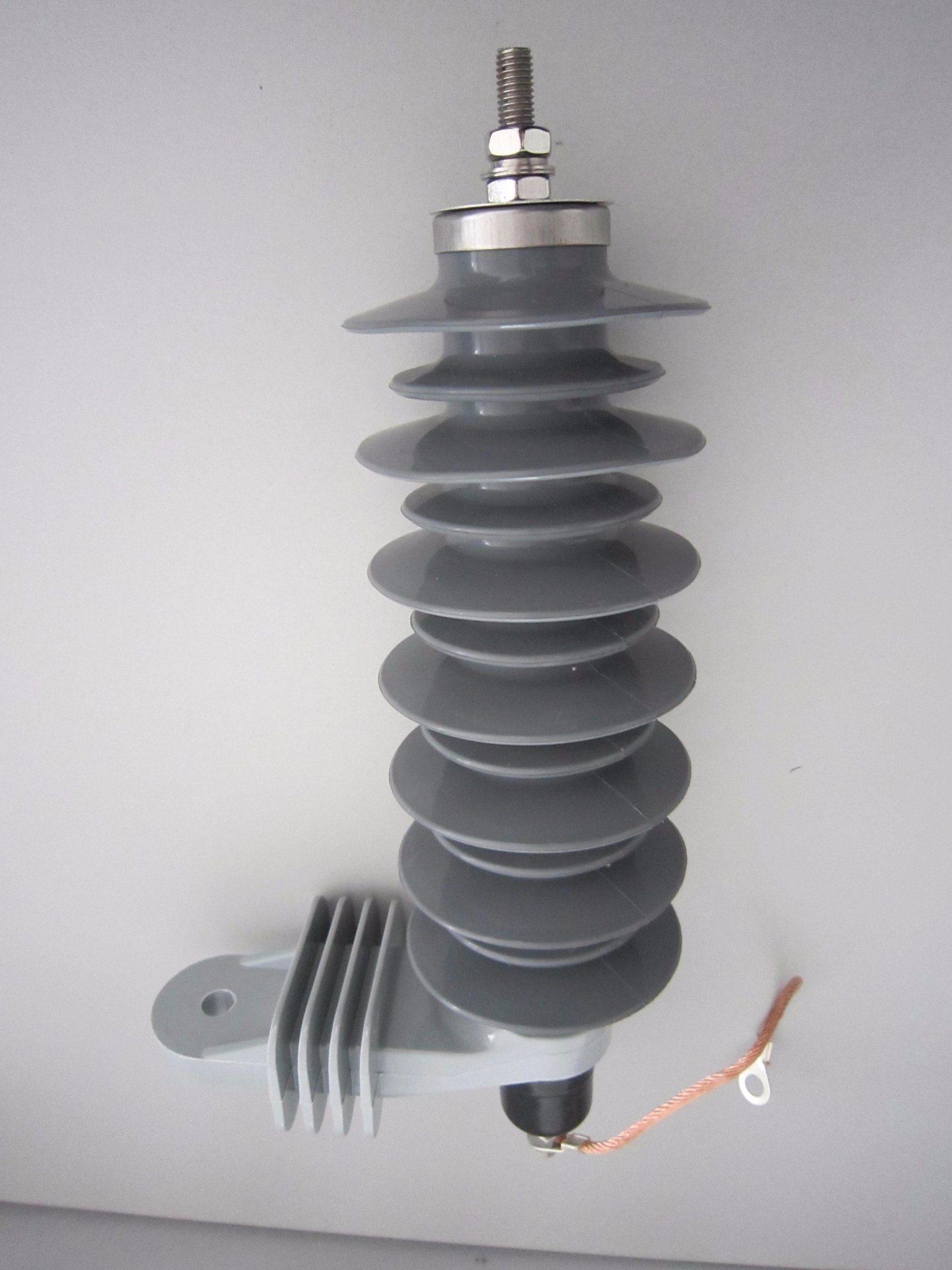 10kA 24kV Polymer Housd Metal / Zinc Oxide Surge Arrester /Protector