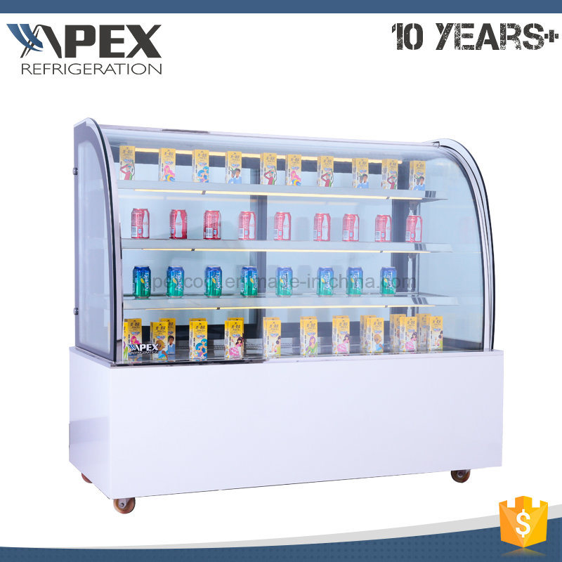 Commerical Three Layers Cake Display Showcase Cooler for Bakery