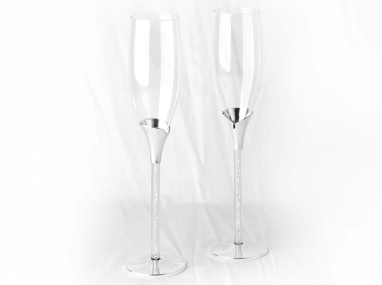 Gold Light Texture Crystal K9 Toasting Wedding Flute Goblet Wine Goblet