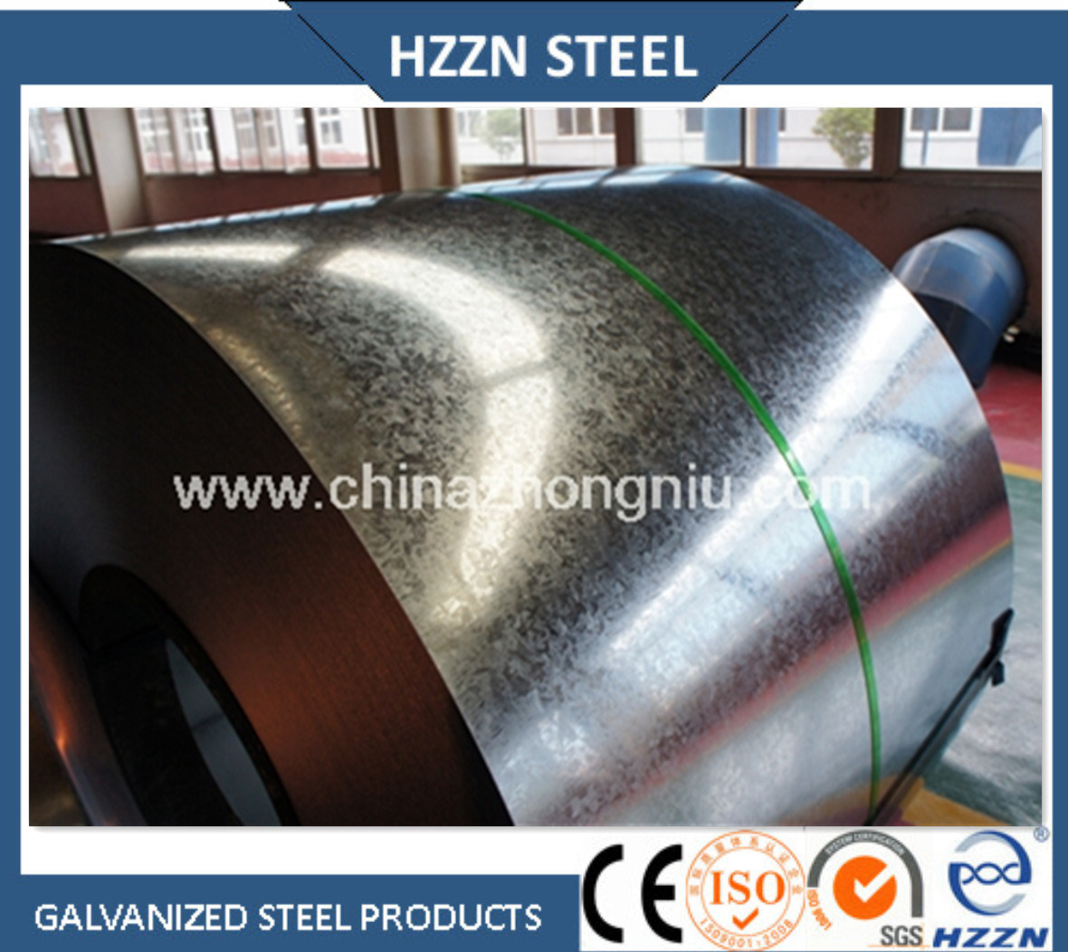 Baosteel (Huangshi) Hot Dipped Galvanized Steel Coil with SGS