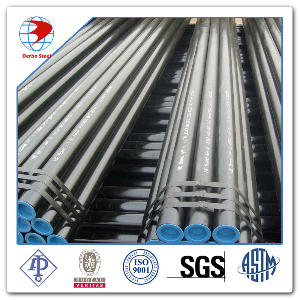 ASTM A53 A106 API 5L Grade B Black Carbon Steel Seamless Pipes