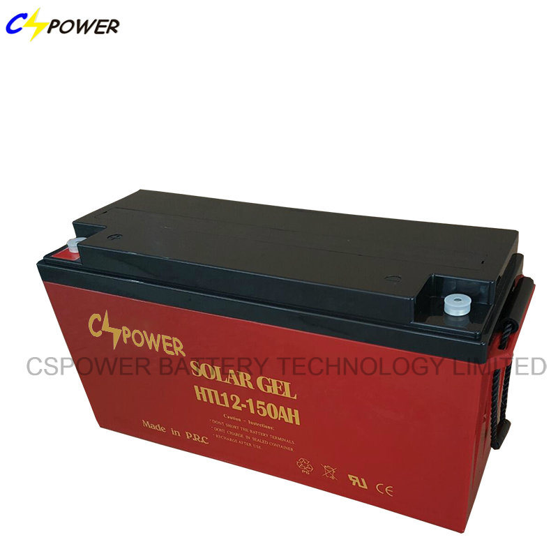 Deep Cycle Solar Panel Gel Battery 12V150ah for Solar System Power Storage Battery