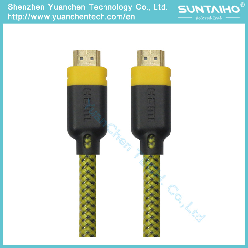 High Speed HDMI Cable with Dual Color PVC Shell