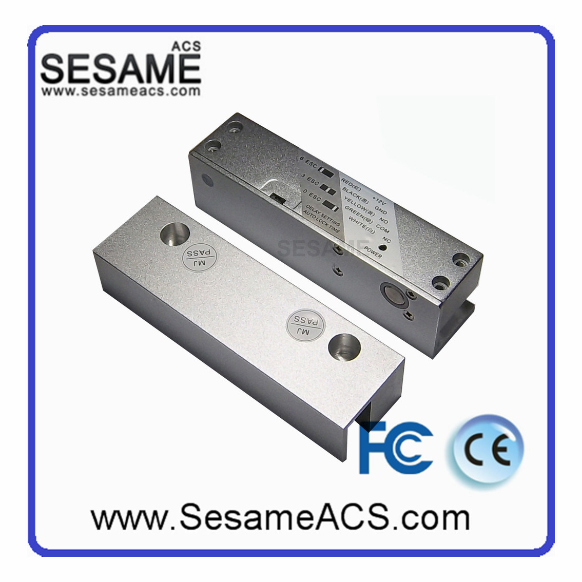 Electric Drop Bolt with Time Delay (SB-5818)