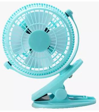 2 level wind speeding USB miniCharging fan with clamp -Blue