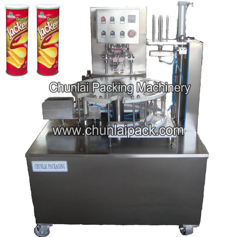Composite Canisters Potato Chips Sealing Machine