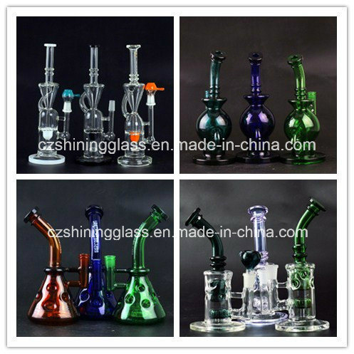 Fantastic Design Recycler Glass Smoking Water Pipes Hookahs with Swiss