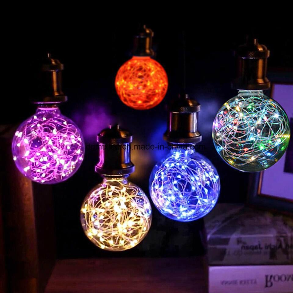 LED bulb LED lights LED light bulb LED strip lights CE ST64 Warm White Energy Saving 3W LED Starry Bulb Decoration Lighting