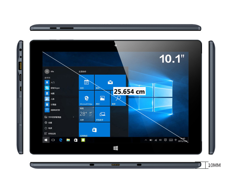 Tablet PC with Touch Screen Laptop with Fingerprint Reader