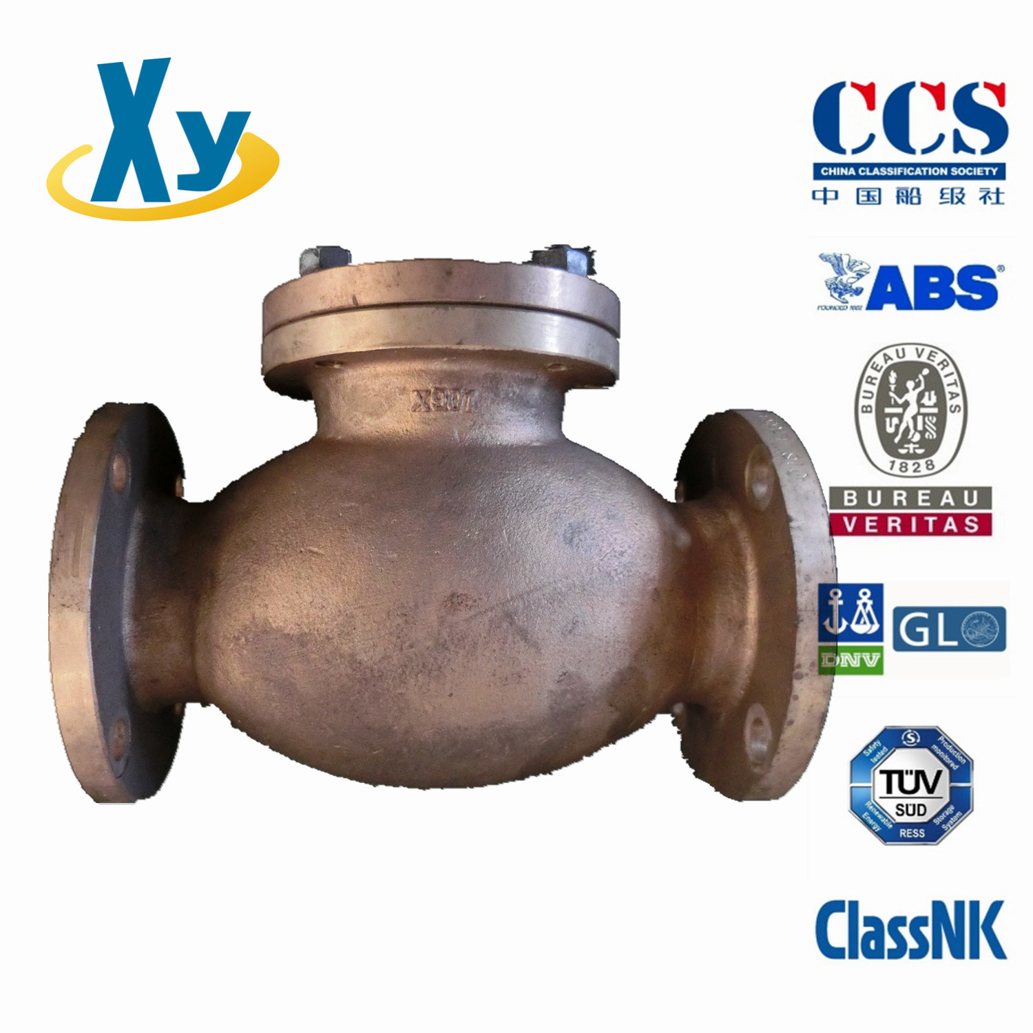 Marine Cast Iron Lift Check Valve JIS F7358 5k