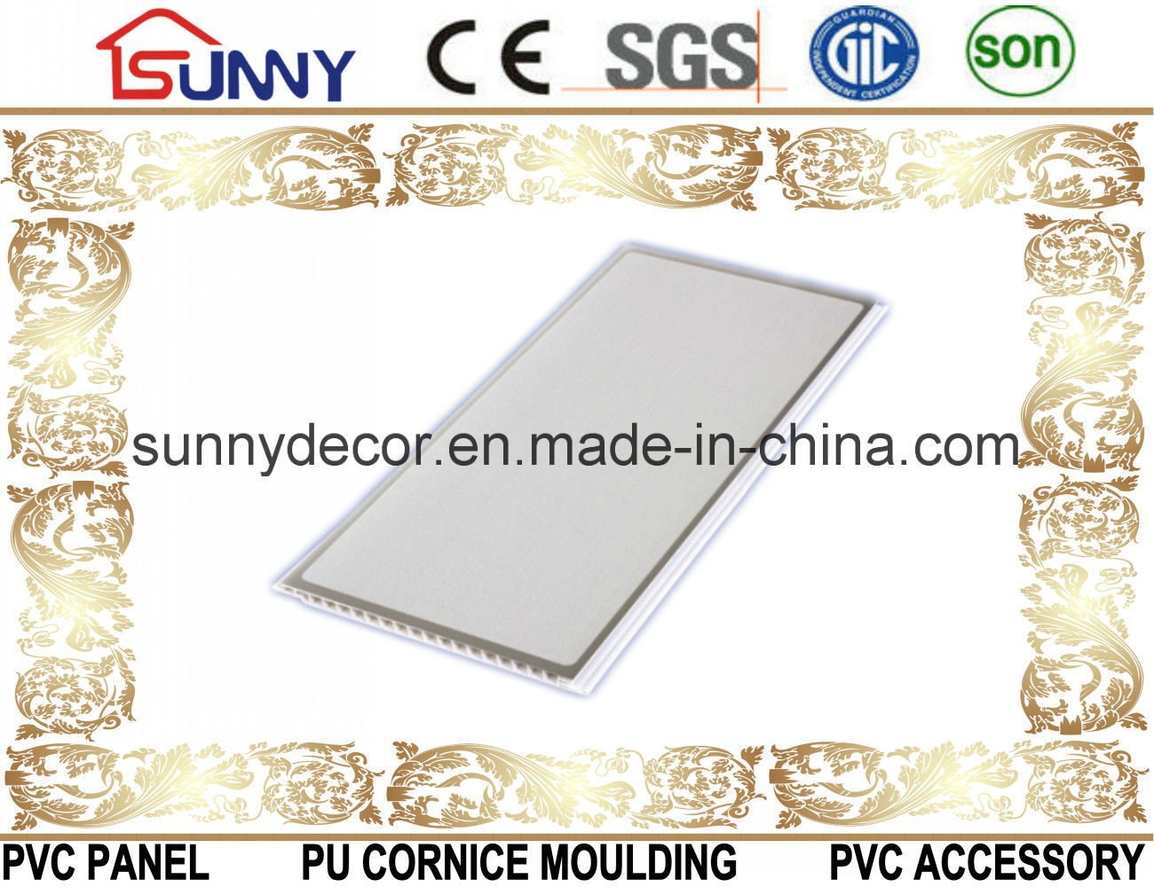2016 Hot Stamping PVC Panel for Ceiling and Wall Decoration Building Material