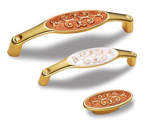 Zinc Alloy Furniture Golden Handle for Cabinet & Drawer