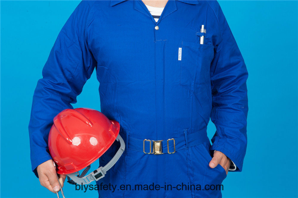 65% Polyester 35%Cotton Long Sleeve Safety High Quality Cheap Workwear Coverall (BLY1027)